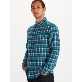 Рубашка мужская Marmot Fairfax Midweight Flannel LS | Navy | Вид 1