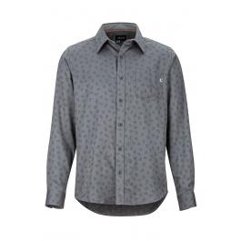 Рубашка Marmot Fairfax Midweight Flannel LS | Cinder/Marmot Jacquard | Вид спереди