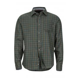 Рубашка Marmot Fairfax Midweight Flannel LS | Dark Spruce | Вид спереди