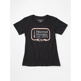 Футболка женская Marmot Wm's Ascender Tee SS | Charcoal Heather | Вид 1