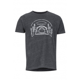 Футболка Marmot Camp Outdoor Tee SS | Charcoal Heather | Вид 1