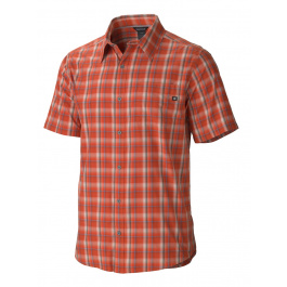Рубашка Marmot Alder Plaid SS   Red Ochre   Вид 1