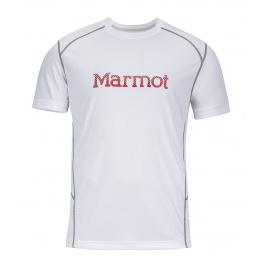 Футболка Marmot Windridge with Graphic SS | White/Team Red | Вид 1