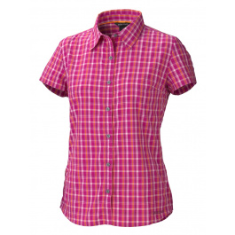 Рубашка женская Marmot Wm's Reese Plaid SS | Plum Rose | Вид 1