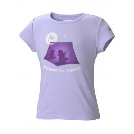 Футболка детская Marmot Girl's Get In Tents Tee SS | African Violet | Вид 1