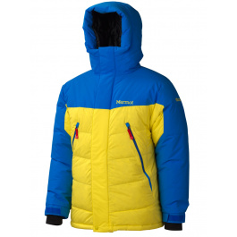 Пуховик Marmot 8000M Parka | Acid Yellow/Cobalt Blue | Вид 1