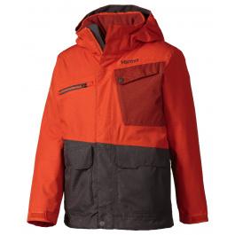 Куртка детская Marmot Boy's Space Walk Jacket | Sunset Orange/Slate Grey | Вид 1