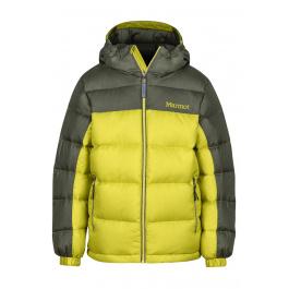 Куртка детская Marmot Boy's Guides Down Hoody   Citronelle/Beetle Green   Вид 1