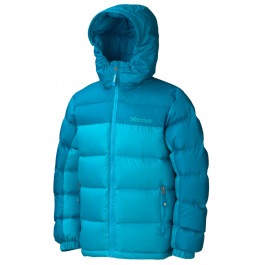 Куртка детская Marmot Girl'S Guides Down Hoody | Sea Breeze/Aqua Blue | Вид 1