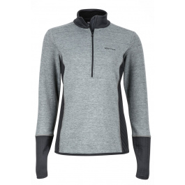 Пуловер женский Marmot Wm's Sirona 1/2 Zip | Dark Steel/Black | Вид 1