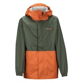 Куртка детская Marmot Boy's PreCip Eco Jacket | Crocodile/Mandarin Orange | Вид 1