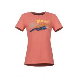 Футболка Marmot Wm's Esterel Tee SS | Flamingo Heather | Вид 1