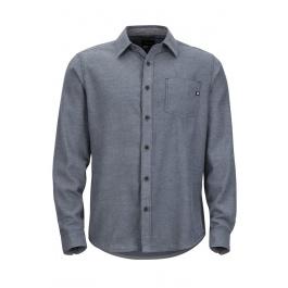 Рубашка Marmot Marmot Hobson Midweight Flannel LS | Dark Indigo/Heather | Вид спереди