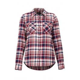 Рубашка женская Marmot Wm's Bridget Midwt Flannel LS | Claret | Вид спереди