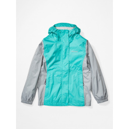 Куртка для девочки Marmot Girl's PreCip Eco Jacket | Ceramic Blue/Sleet | Вид 1