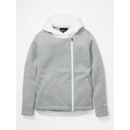 Куртка женская Marmot Wm's Denare Ins Hoody | Bright Steel Heather/White | Вид 1