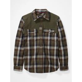 Рубашка мужская Marmot Needle Peak Midwt Flannel   Crocodile/Nori   Вид 1