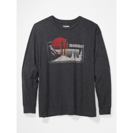 Футболка мужская Marmot Freestyle Tee LS | Charcoal Heather | Вид 1