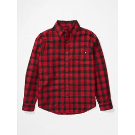 Рубашка мужская Marmot Bodega Lt. Wt Flannel LS | Dark Fire | Вид 1