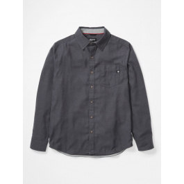 Рубашка мужская Marmot Hobson Midweight Flannel LS | Dark Steel Heather | Вид 1