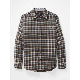 Рубашка мужская Marmot Fairfax Midweight Flannel LS | Brown | Вид 1