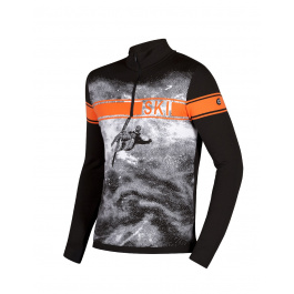 Пуловер мужской Newland MAN T-NECK Dolomiti | Nero/Arancio | Вид 1