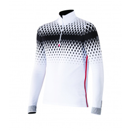 Пуловер Newland Cimone T-NECK 1/2 ZIP MAN DH00 | White/Black |Вид спереди