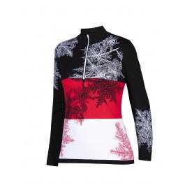 Пуловер женский Newland LADY T-NECK Le Blanc | Black/Red | Вид 1