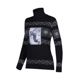 Свитер женский Newland LADY T-NECK Sauze d'Oulx | Black/Silver | Вид 1