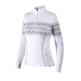 Пуловер женский Newland Lusia T-NECK 1/2 ZIP LADY DH400 | White/Black | Вид спереди