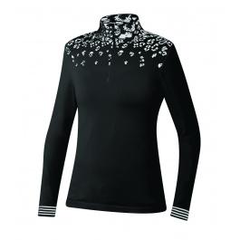 Пуловер женский Newland Baqueira T-NECK 1/2 ZIP LADY DH240 | Black/White | Вид спереди