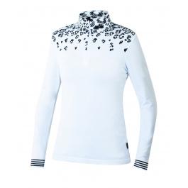 Пуловер женский Newland Baqueira T-NECK 1/2 ZIP LADY DH240 | White/Black | Вид спереди