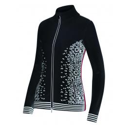 Куртка женская Newland Branäs FULL ZIP LADY DH400 | Black/White | Вид спереди