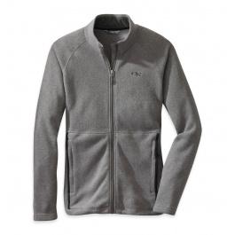 Куртка из флиса Outdoor Research Longhouse Jacket Men's | Pewter | Вид 1