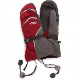 Рукавицы Outdoor Research Highcamp Mitts | Retro Red/Charcoal | Вид 1