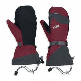Рукавицы Outdoor Research Meteor Mitts | Retro Red/Charcoal | Вид 1