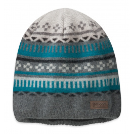 Шапка Outdoor Research Trimline Beanie | Pewter/Alpine Lake | Вид 1