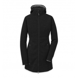 Куртка женская Outdoor Research Salida Long Hoody Womens | Black | Вид 1