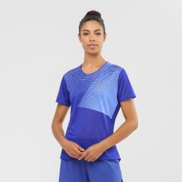 Футболка женская Salomon SENSE TEE W | Clematis Blue | Вид 1