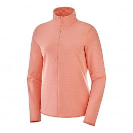 Пуловер женский Salomon OUTRACK HZ W | Burnt Coral | Вид 1