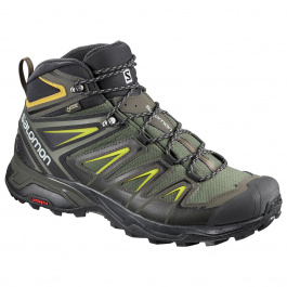 Ботинки Salomon X ULTRA 3 MID GTX® | Castor Gray/Black/Green Sulphur | Вид 1