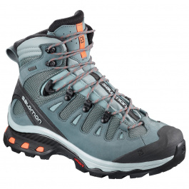 Ботинки женские Salomon QUEST 4D 3 GTX® W | Lead/Stormy Weather/Bird of Paradise | Вид 1