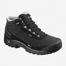 Ботинки Salomon SHELTER CS WP | Black/Black/Frost Gray | Вид 1