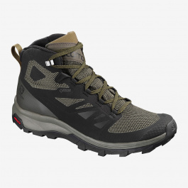 Ботинки мужские Salomon OUTline Mid GTX | Black/Beluga | Вид 1