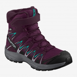 Ботинки детские Salomon XA PRO 3D WINTER TS CSWP J | Dark Purple/Potent Purple/Atlantis | Вид 1