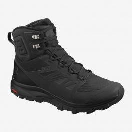 Ботинки мужские Salomon OUTblast TS CSWP | Black/Black/Black | Вид 1