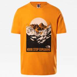 Футболка мужская The North Face M S/S NW TEE   Light Exuberance Orange   Вид 1