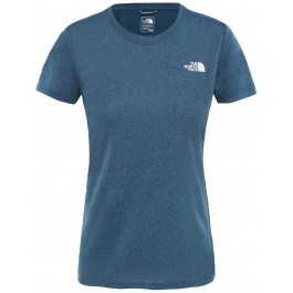 Футболка женская The North Face W REAXION AMP CREW | Blue Wing Teal Heather | Вид 1
